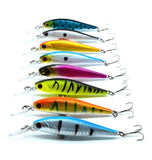 8 colors 10 cm  9.4 g Fishing Lure Minnow Hard Bait with 2 Fishing Hooks Fishing Tackle Lure 3D Eyes - TheUrbanSky