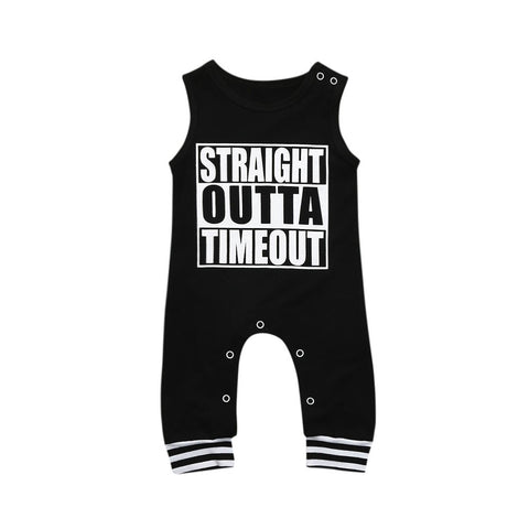 Infant Letter Print Clothes Jumpsuit Romper