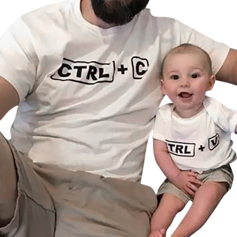 Family Clothing Baby Kids Boys Short Sleeve Letter T-shirt Blouse Family Clothes