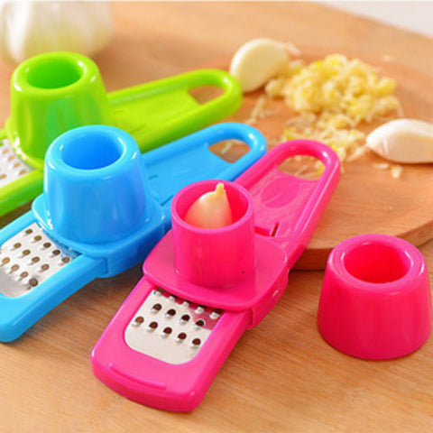 Multifunctional Ginger Garlic Press Grinding Grater Planer Slicer Mini Cutter Kitchen Cooking Gadgets Tools Utensils Accessories - TheUrbanSky