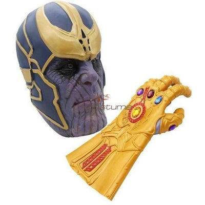 Avengers 3 Infinity War Thanos Cosplay Mask And Glove Accessories
