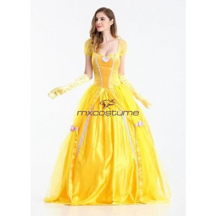 Beauty And The Beast 2017 Belle Princess Dress Cosplay Costume Mxcostume
