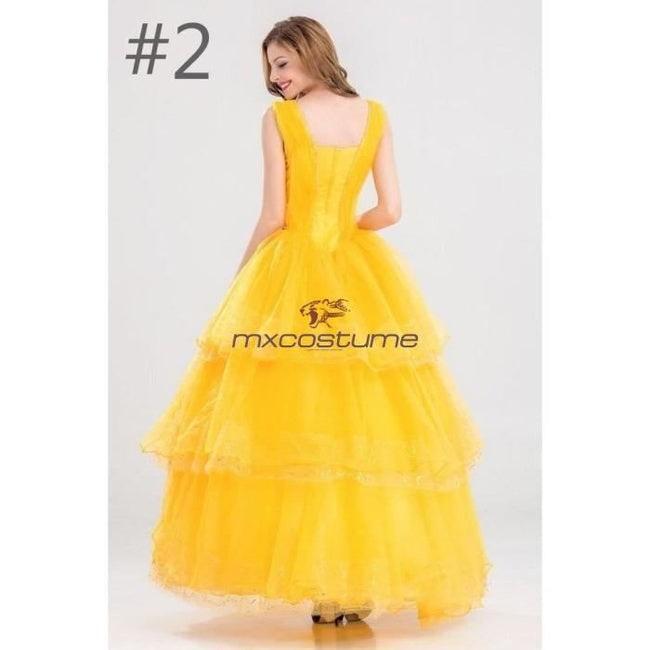 Beauty And The Beast 2017 Belle Princess Dress Costumes