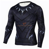 Black Panther 3D Printing Long/short Sleeves T-Shirt Cosplay Costume Shirts