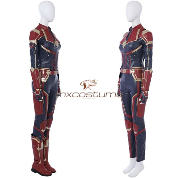 Captain Marvel Carol Danvers Pu Leather Full Sets Cosplay Costume Costumes