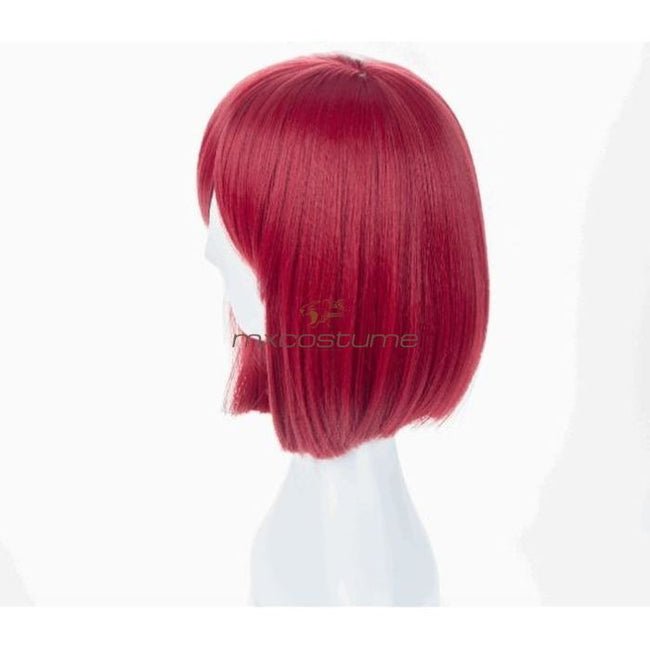 Danganronpa V3 Yumeno Himiko Cosplay Red Wig Accessories