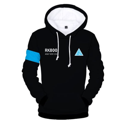Detroit Become Human Game Connor Kara Rk800 3D Printing Cosplay Hoodie