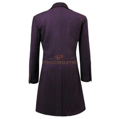 Doctor Who Eleventh Dr. 11Th Purple Coat Cosplay Costume Costumes