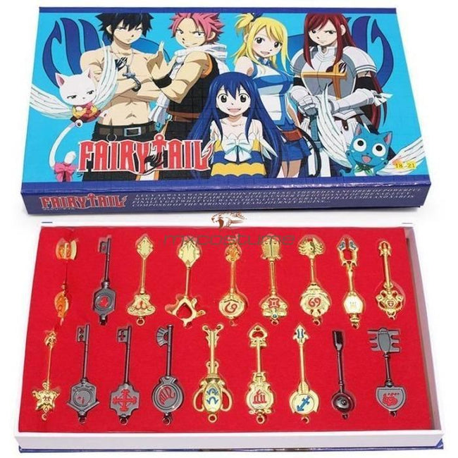 Fairy Tail Lucy Cosplay 18 Gold/black Keys Set Accessories