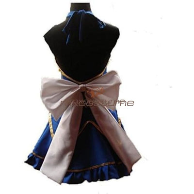 Fairy Tail Lucy Heartfilia Blue Dress Cosplay Costume Costumes