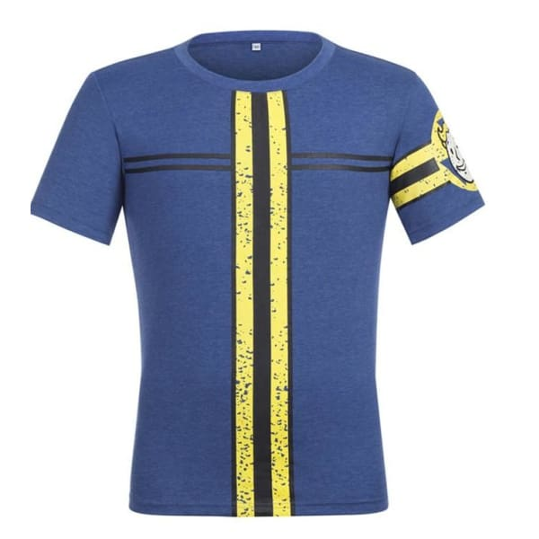 Fallout 4 Vault 111 Cosplay Blue Cotton T-Shirt Shirts