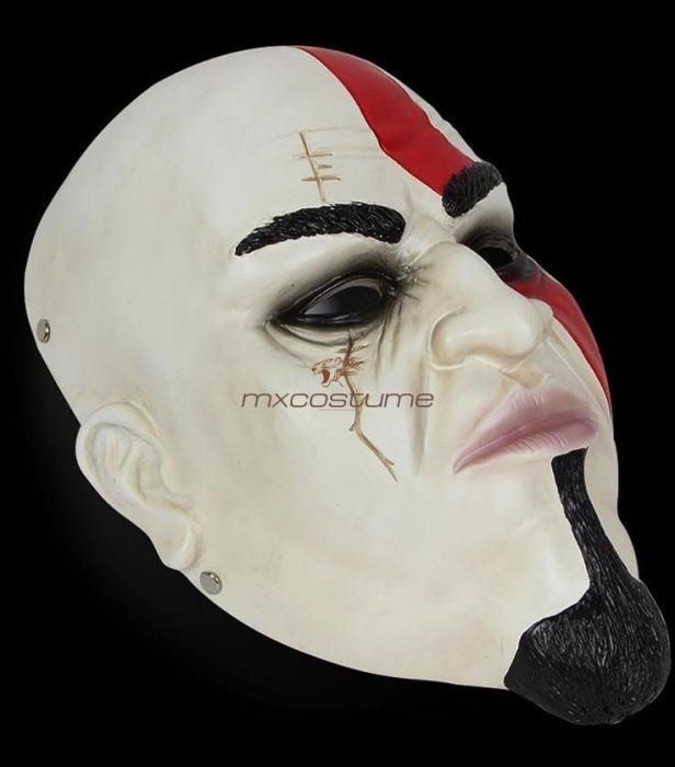 God Of War Kratos Cosplay Latex Mask Masks