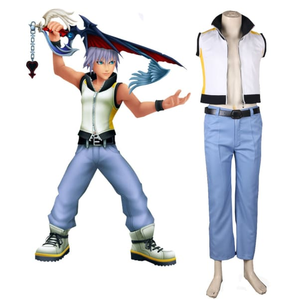 Kingdom Hearts 3D Dream Drop Distance Riku Uniform Cosplay Costume