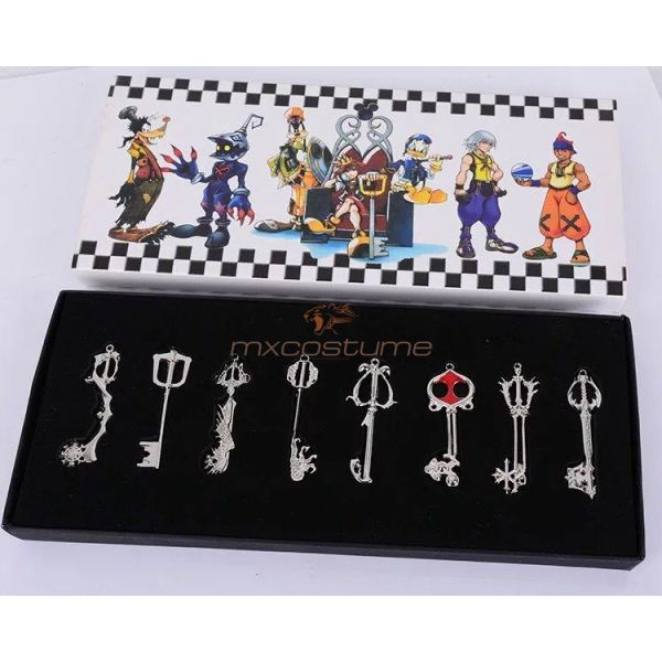Kingdom Hearts Sora Cosplay Necklace With Key Chain Shape Accessories