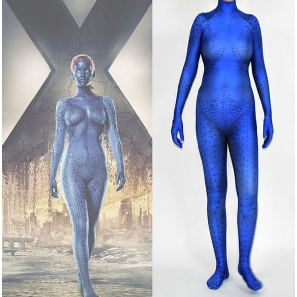 Mystique Raven Darkholme Cosplay Blue Costume Costumes