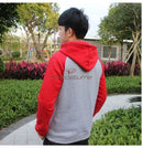 One Punch Man Saitama Cosplay Gray&red Hoodie Hoodies