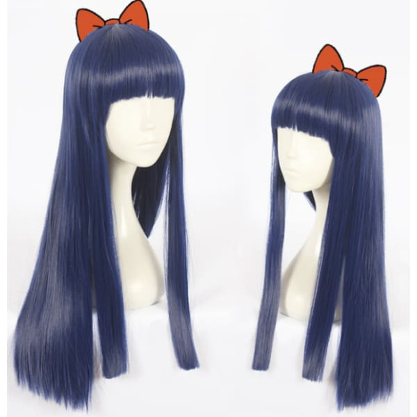 Pop Team Epic Cosplay Blue Wig Accessories