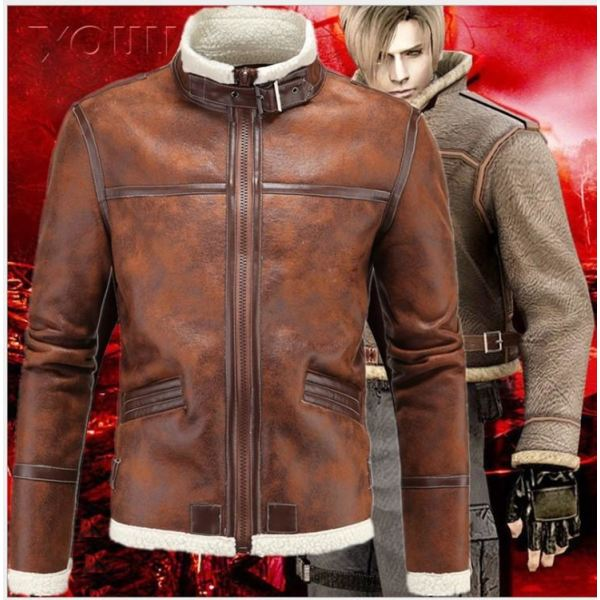 Resident Evil Afterlife Leon Scott Kennedy Cosplay Brown Costume Costumes