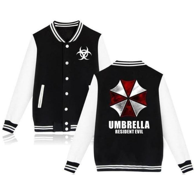 Resident Evil Umbrella Baseball Uniform Hoodie Hoodies
