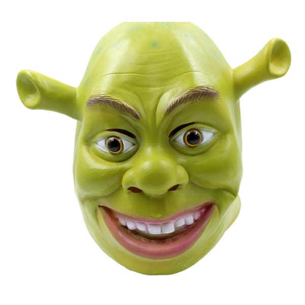Shrek Cosplay Green Latex Mask Masks