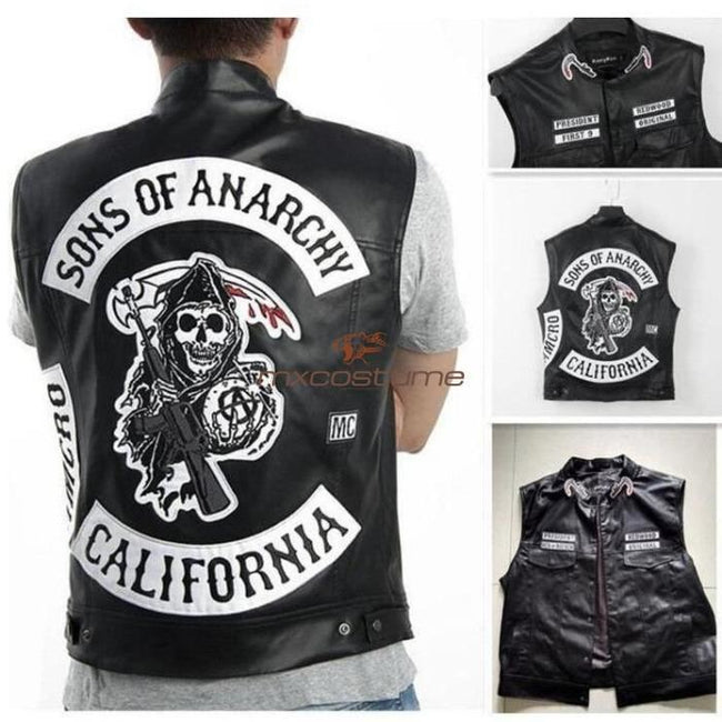 Sons Of Anarchy Cosplay Pu Leather Vest Costumes