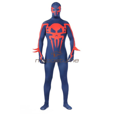 Spider-Man 2099 Miguel Ohara Blue Tights Jumpsuits Cosplay Costume Costumes