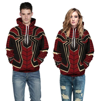 Spider-Man Cosplay Digital Printing Hoodie