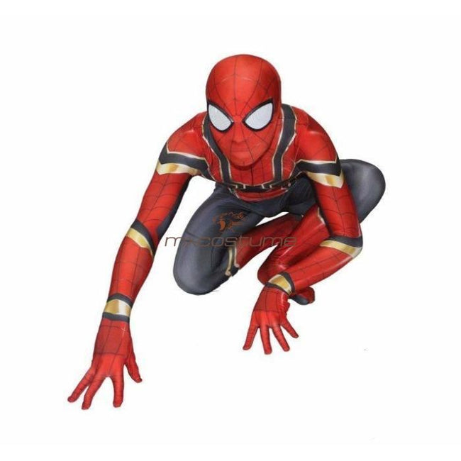 Spider-Man Homecoming Steel Edition Lycra Bodysuit Cosplay Costume Costumes