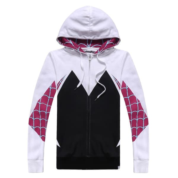 Spider-Man Into The Spider-Verse Gwen Stacy Cosplay Hoodie