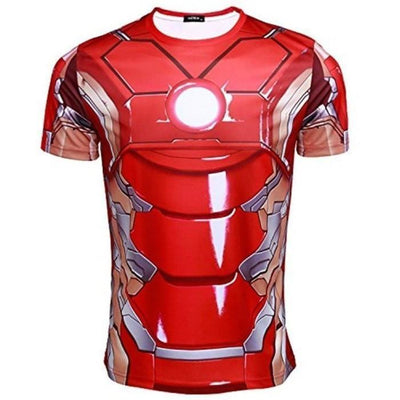 The Avengers 2 Iron Man Tony Stark Red T-Shirt Cosplay Costume Shirts