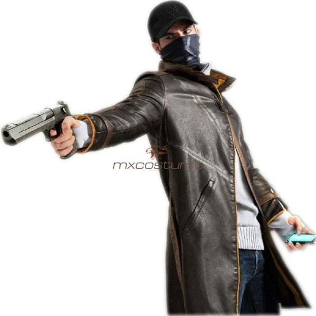 Watch Dogs Aiden Pearce Coat Cosplay Costume Costumes