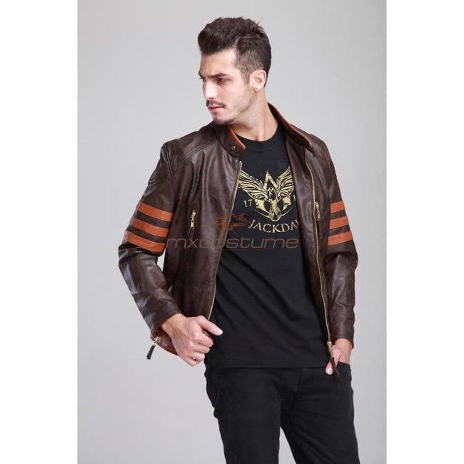 Wolverine 2 Logan Pu Leather Jacket Cosplay Costume Costumes