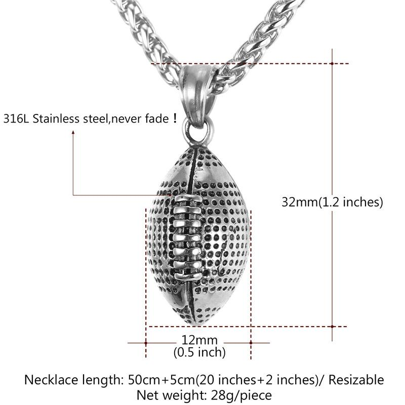 Football pendant necklace wear your truths football pendant necklace aloadofball Images