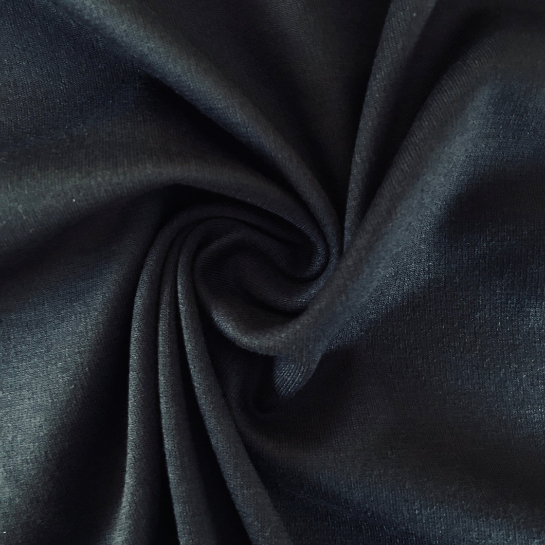 Luxe Navy Ponte Roma with Viscose - sold by the half metre