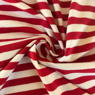 The Perfect Jersey Stripe in Red and White from Stitchy Bee