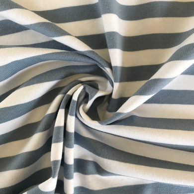 The Perfect Jersey Stripe in Pastel Blue from Stitchy Bee