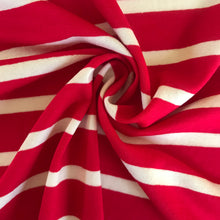 Big Stripe Luxury Viscose Red Jersey from Stitchy Bee