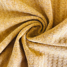Stretch Waffle Jersey in Ochre - sold by the half metre