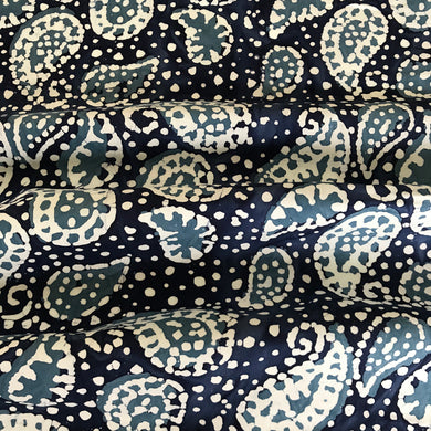Sea Blue Paisley Batik from Stitchy Bee