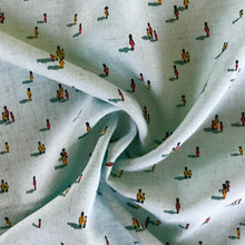 Little People Mint Viscose Linen from Stitchy Bee