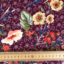 Patsy Plum Blousey Fabric - sold by the half metre was £5.50 now £3.50!