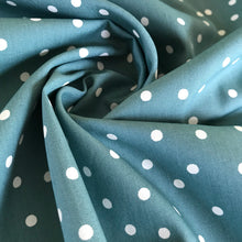 Tori Teal Polka Dot Cotton from Stitchy Bee