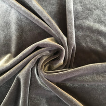 Foxy Silver Velour - 75cm Remnant