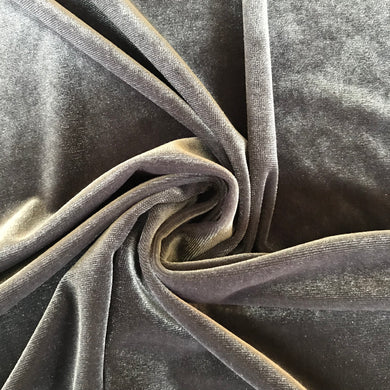Foxy Silver Velour - sold by the half metre