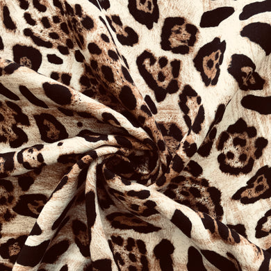 Leopard Viscose Twill from Stitchy Bee