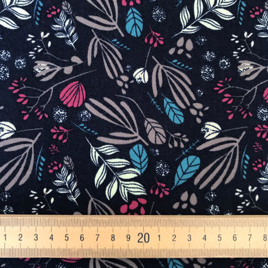 Cornish Print Brushed Cotton in Navy from Stitchy Bee