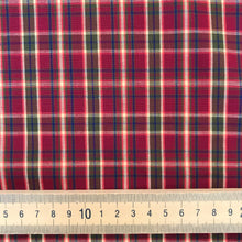 Wine and Sage Tartan Cotton from Stitchy Bee