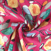 Rosie Blooms Pinky Cotton Viscose Mix from Stitchy Bee