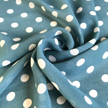 Vivienne Teal Crepe Chiffon - sold by the half metre