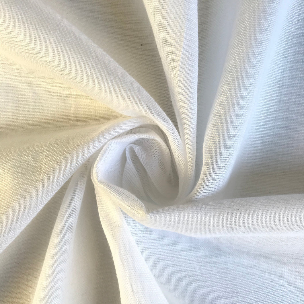 Pure White Egyptian Muslin - sold by the half metre
